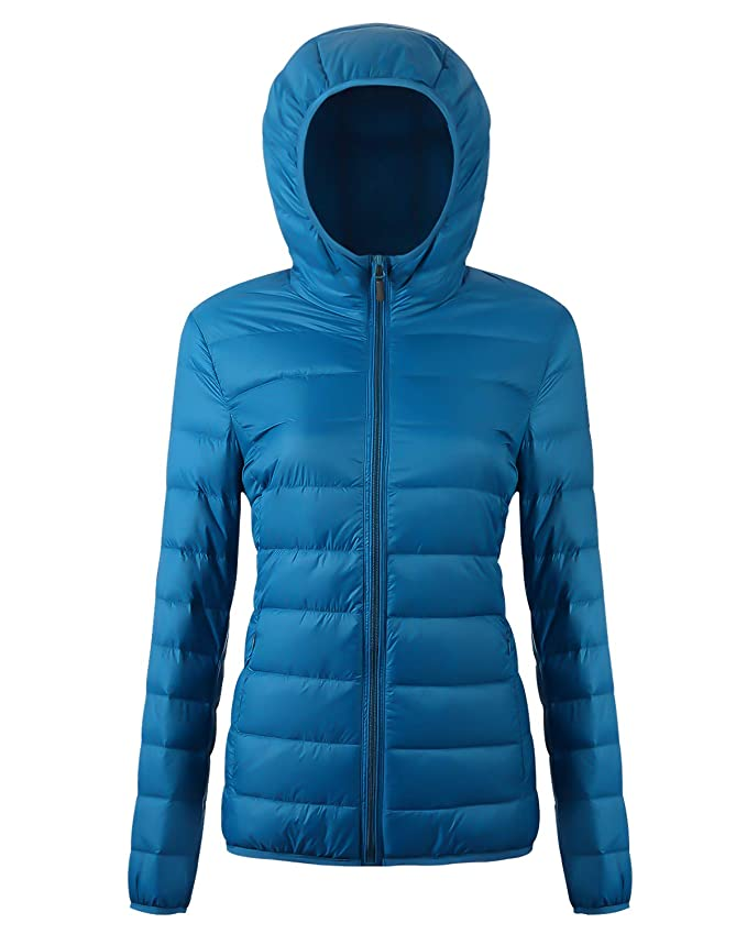 Womens Packable Down Jacket Ultra Light Weight Short Puffer Coat with Travel Bag