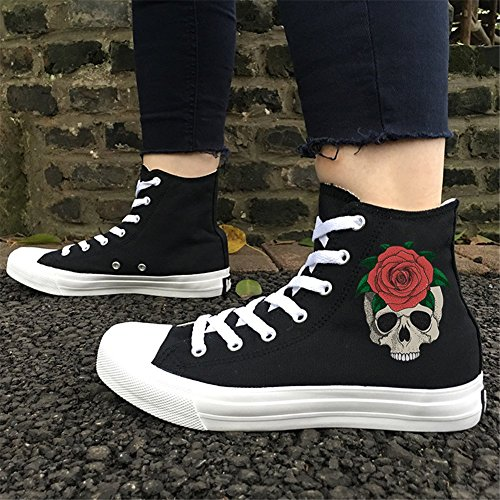 Shoes Canvas New up Lovers Spring Womens's Flat Espadrilles Shoes Help Shoes Outdoor Deck Ladies 48 Fall Black Lace 8Rxgnzqx