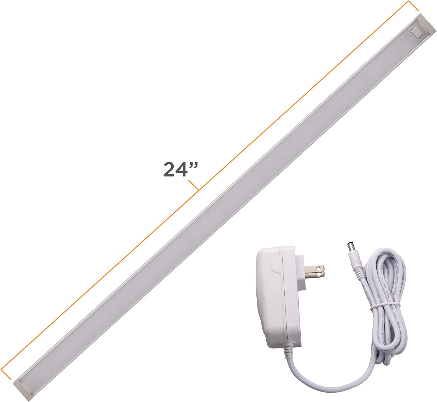 "BLACK+DECKER Cabinet Utility Light, 24"" Bar, Tool-Free Install, Warm White (LEDUC24-1WK)"