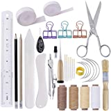 MIUSIE 32 Pieces Hand Bookbinding Tools,Practical Bookbinding Kit for Beginners,Complete Bookbinding Tool Kit with…