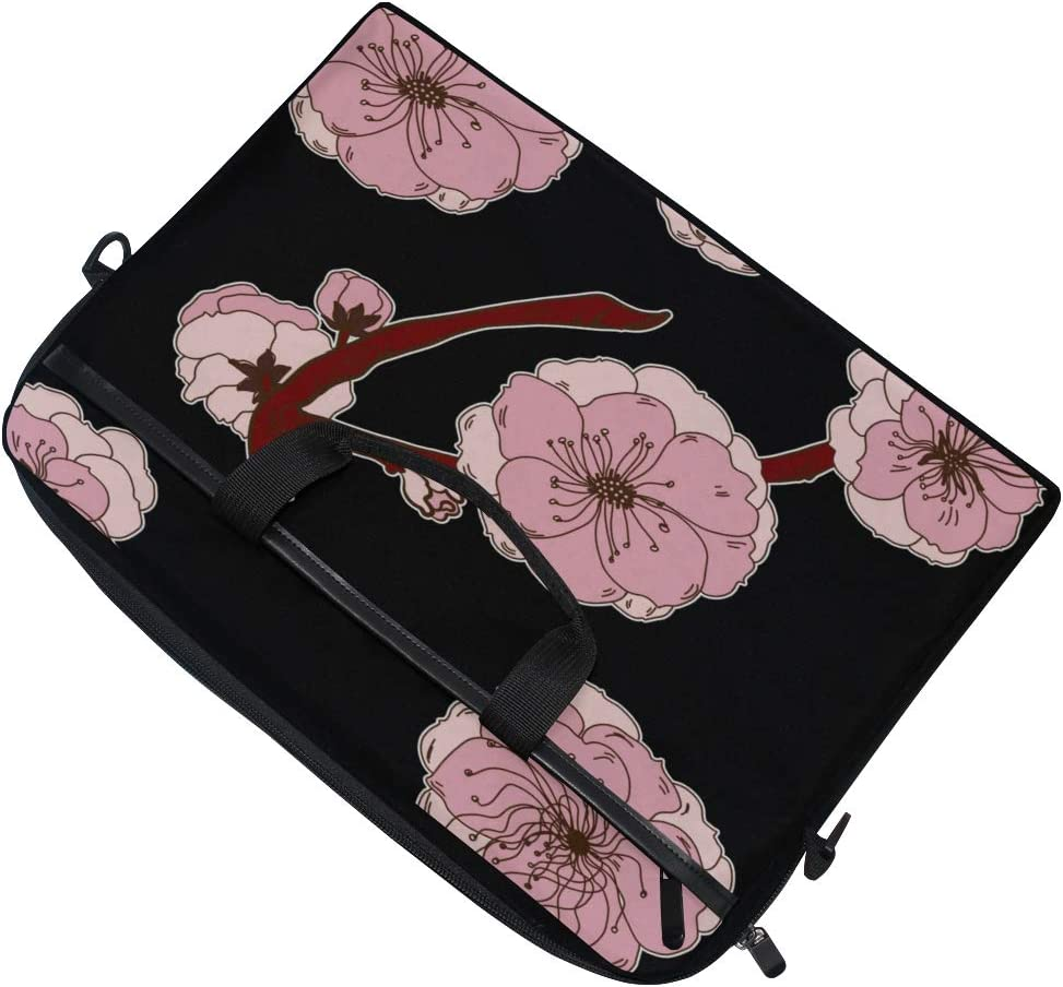 Laptop Bag Cherry Branches Peach Flowers 15-15.4 Inch Laptop Case College Students Business People O Briefcase Messenger Shoulder Bag for Men Women