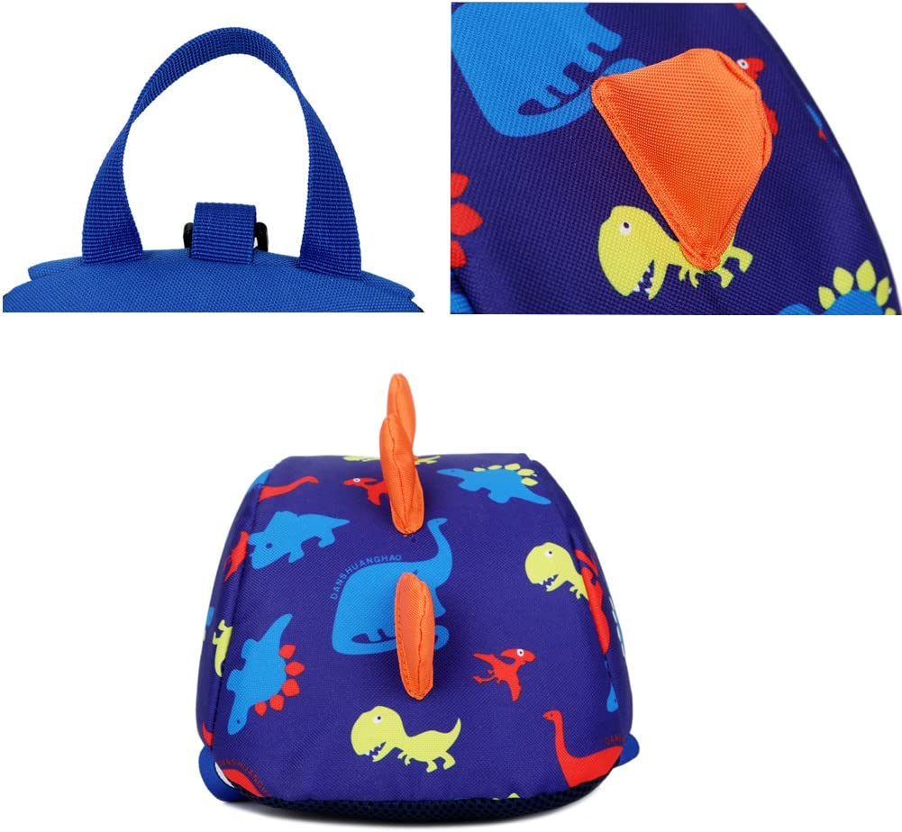 DafenQ 3D Carina Dinosauro Zaino per bambini Zaino Kindergarten Sveglio Zaini per Infanzia Ragazze Ragazzi Blu