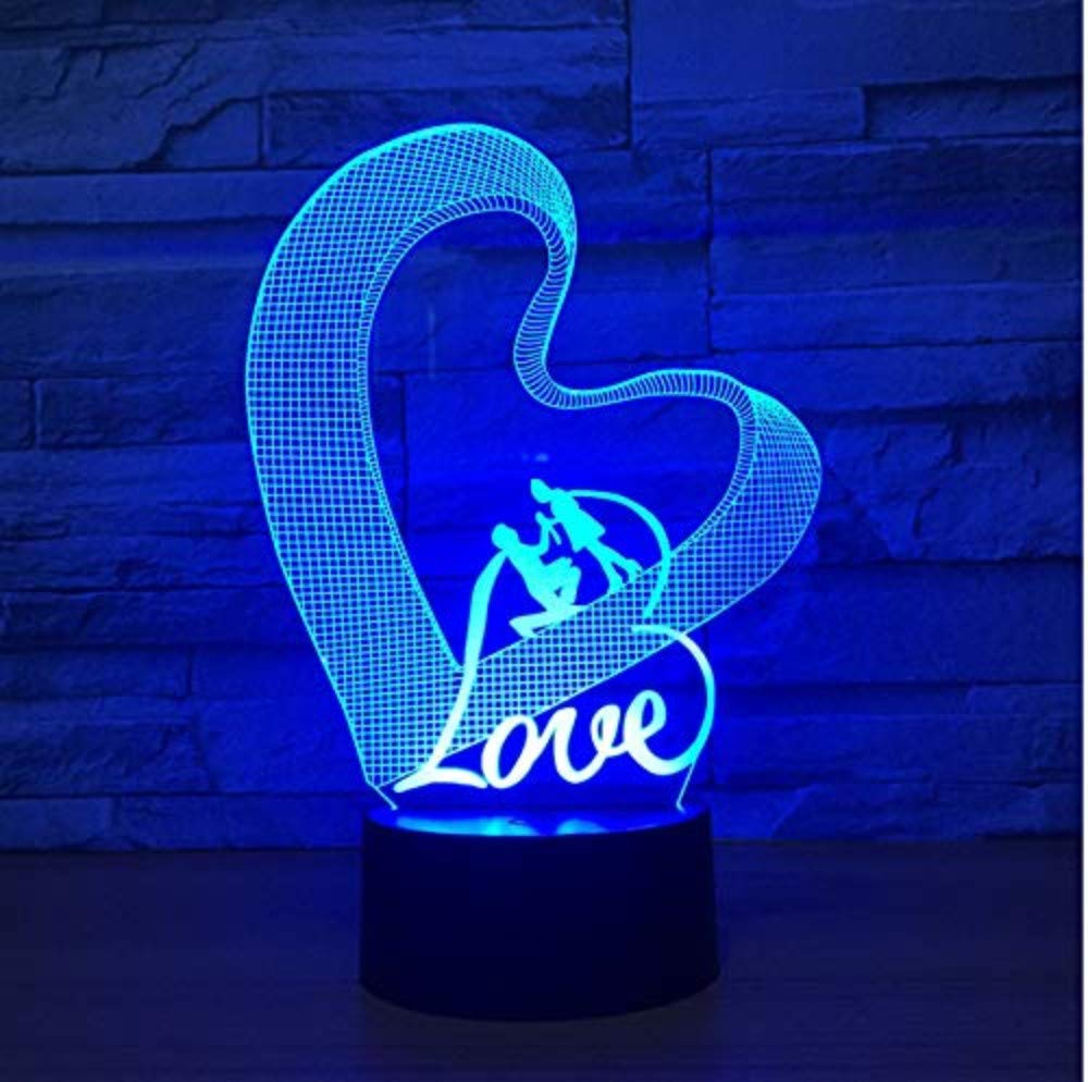 3d Acrylic Night Light Liebe Herz Led 3d Nachtlicht Acryl 7