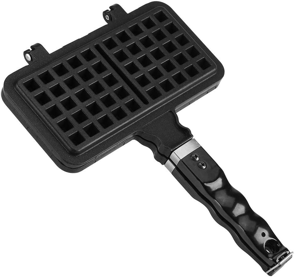 Non-stick Aluminum Waffle Irons,Rectangle Double Side Waffle Maker Waffle Mold Baking Pan with Flip Press Plate for Household Kitchen
