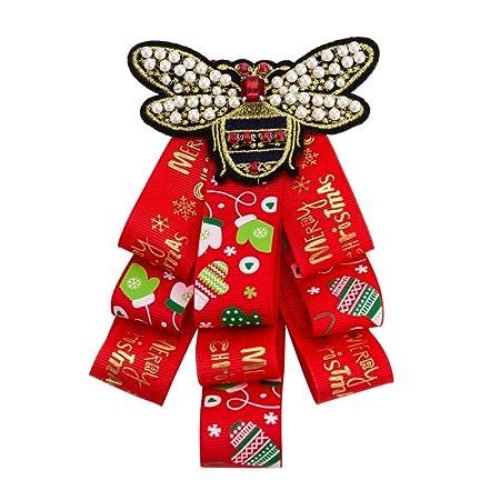Keliour-brt Broches de Cristal de joyería Feliz Navidad Modelo ...