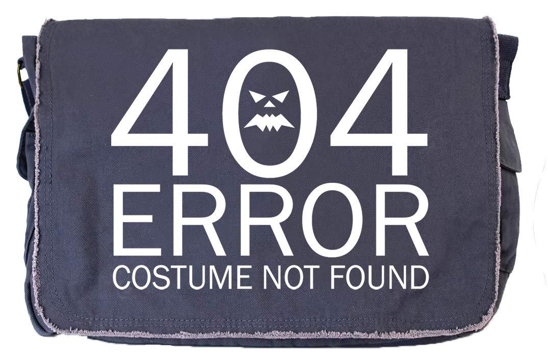 Tenacitee 404 Costume Not Found Grey Brushed Canvas Messenger Bag