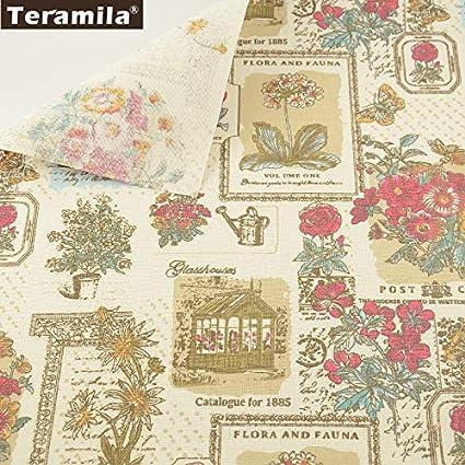 Amazon.com: Material de costura Tissu impresión flores ...