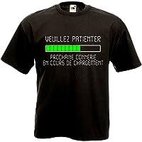 T-shirt Veuillez patienter Prochaine connerie en cours de chargement - Geek Humour Loading Informatique
