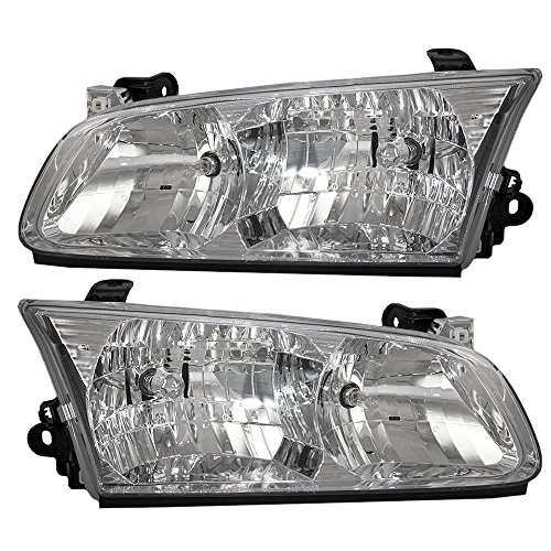 Headlights Headlamps Driver and Passenger Replacements for 00-01 Toyota Camry 81150-AA020 81110-AA020