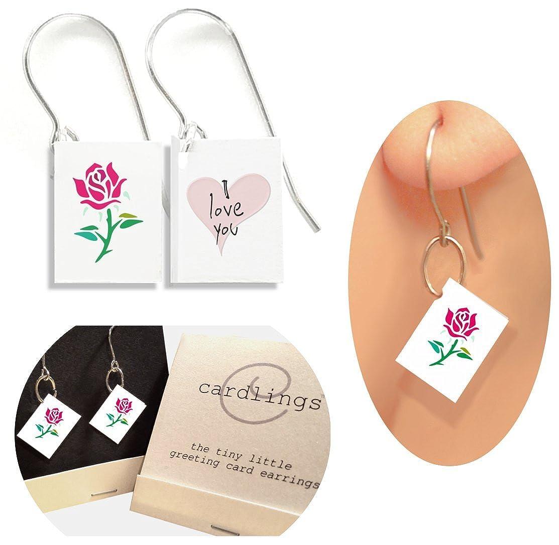 Amazon I Love You Rose Cardlings Tiny Little Greeting Card