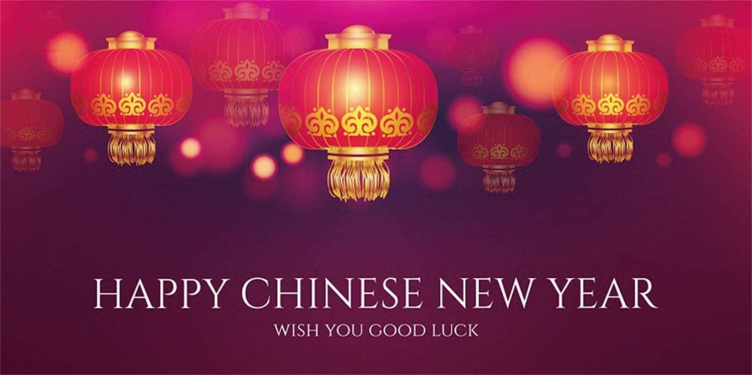 10x5ft Happy Chinese New Year 2020 Backdrop Vinyl Dreamy Chinese Style Red Lanterns Bokeh Haloes Photography Background New Year Carnival Party Banner Greeting Card Wallpaper