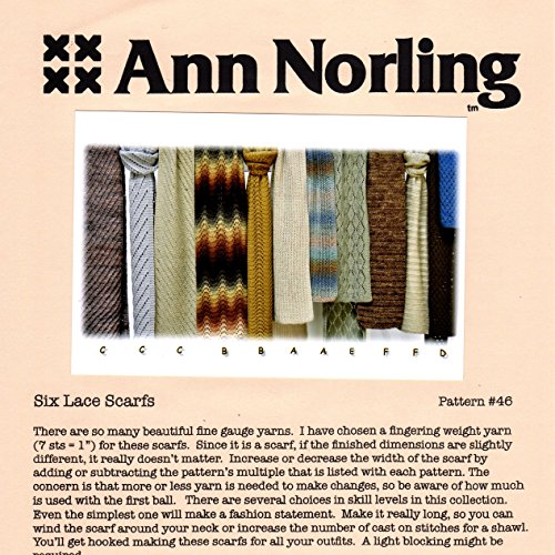Ann Norling Pattern #46 Lace Scarves
