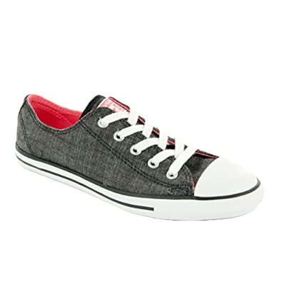 178a4fff02ff63 Image Unavailable. Image not available for. Color  Converse CT Dainty Ox  Black White Womens ...