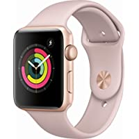 Apple Watch Series 3 (GPS), 42mm Gold Aluminum Case with Pink Sand Sport Band - MQL22LL/A (Refurbished)