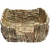 HOMYL Pet Dry Grass Weave Nest House Chew Play Toy for Rabbit Hamster Guinea Pig Rat