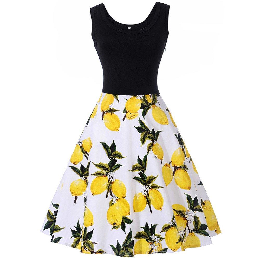 Kleider Sammoson Frauen Elegant Damen Sommerkleider Kleid Strand 76bgyvYfI