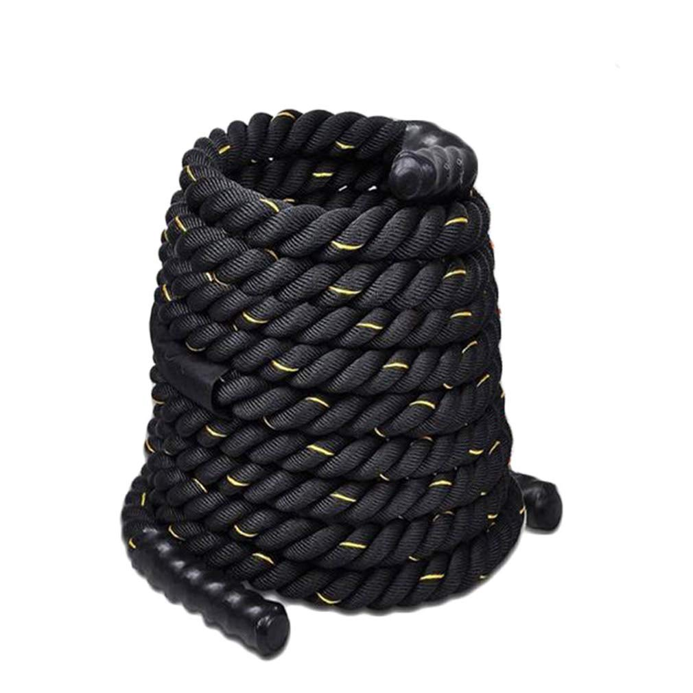 UFC Fitness Training Rope Fighting Rope Fitness Thick Rope Muscle Big Reins Power Rope Battle Rope Tug of War Rope (Color : Diameter 38cm, Size : 9m)