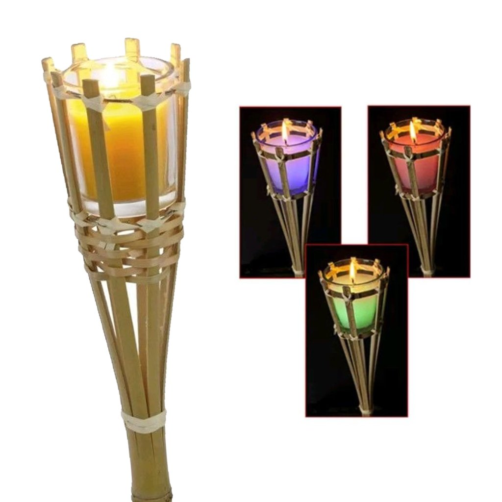 Guaranteed4Less Citronella Candle Colour Changing Torch Mosquito Insect Garden Bamboo Scented (1)