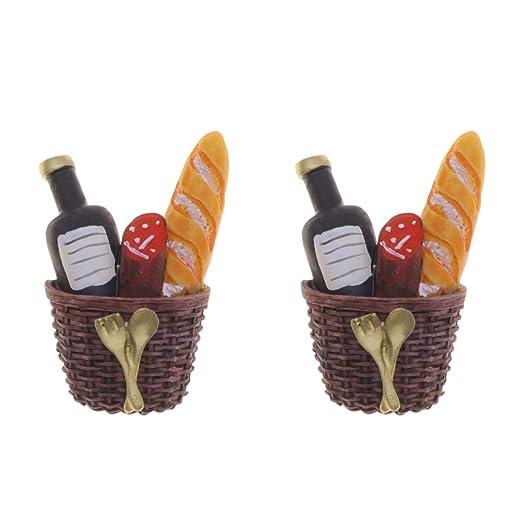 Hemoton 2 Piezas imanes de Nevera champán jamón y Pan decoración ...