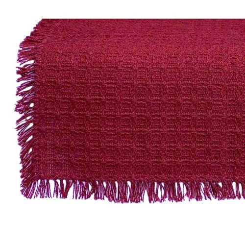 18 X 18 Hand Loomed Homespun Napkins (Set of 4) Solid Cranberry made in New England