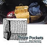 Zone Tech Car Trunk Mesh Cargo Net Three Pocket