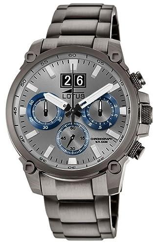 Lotus Reloj Cronógrafo para Hombre de Cuarzo con Correa en Acero Inoxidable 10140/2: Amazon.es: Relojes