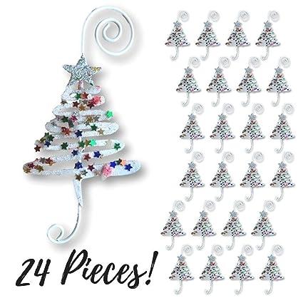 christmas ornament hooks set of 24 whimsical christmas tree ornament hangers adorned with fun - Christmas Ornament Hooks