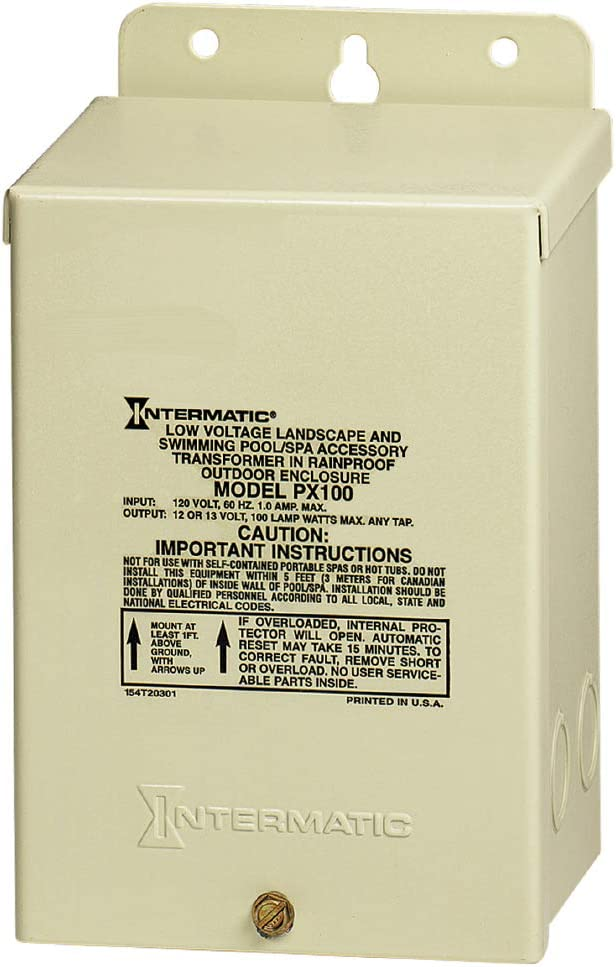 Intermatic PX100 Pool Light 100-Watt Safety Transformer, Beige