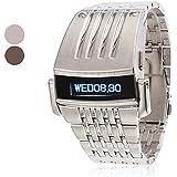 Soleasy Men's Steel Digital LED Wrist Watch WTH1036