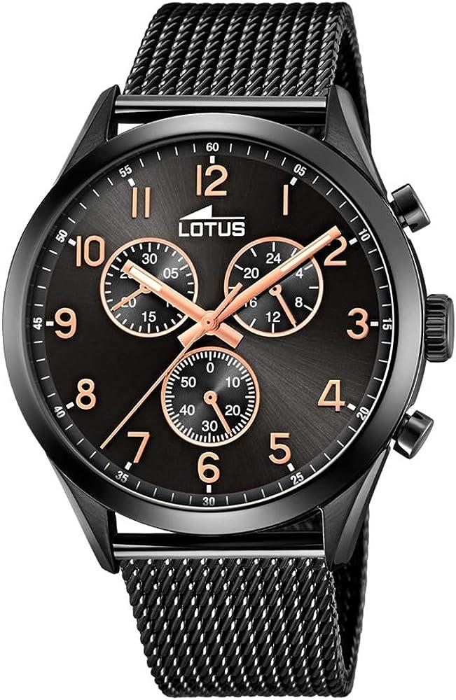 Lotus Reloj Cronógrafo para Hombre de Cuarzo con Correa en Acero Inoxidable 18639/1