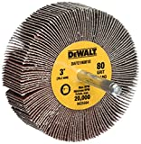 DEWALT DAFE1H0810 3-Inch by 1-Inch by 1/4-Inch HP 80g Flap Wheel