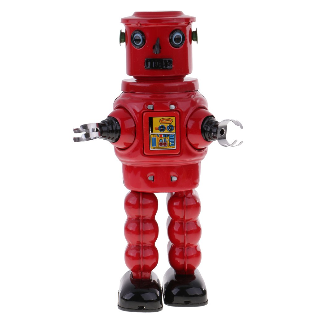 Jili Online New Mechanical Roby Robot Wind Up Clockwork Tin Toys Decoration Collectibles