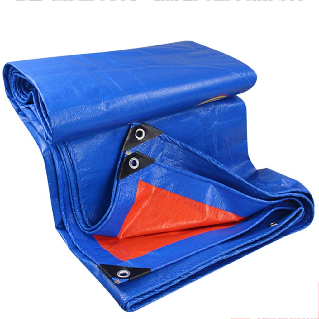 KF Blaue Orange Windschutzscheiben aus PE, Sonnenschutzverdickung Isolierplanenplanenschirmstoff 3  4m, 6  8m