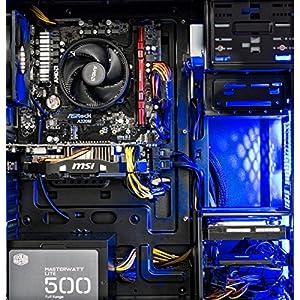 [Ryzen & GTX 1060 Edition] SkyTech Shadow Gaming Computer Desktop PC Ryzen 1200 3.1GHz Quad-Core, GTX 1060 3GB, 8GB DDR4 2400, 1TB HDD, 24X DVD, Wi-Fi USB, Windows 10 Home 64-bit