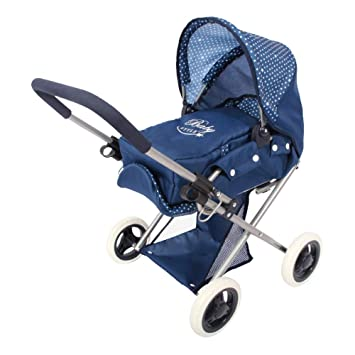 ColorBaby - Cochecito de muñecas plegable 3 en 1 Baby Style, color azul (44921