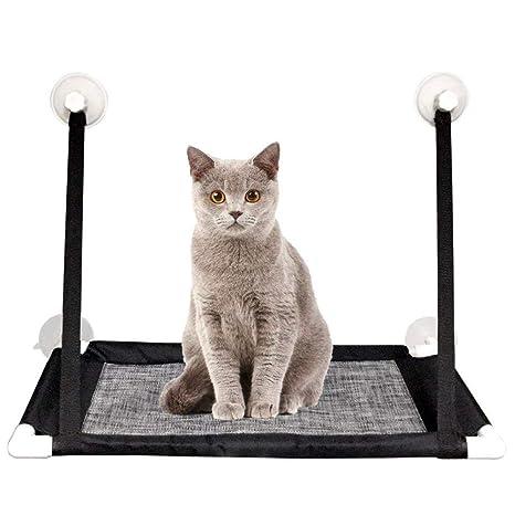 Rhww Hamaca para Ventana De Gato Ventana Montar Perchas Descansando Mascota Cama Asiento con 4 Ventosas