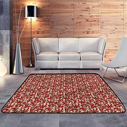 (Rugs,Victorian,Bulky Baroque Style LeafW 59