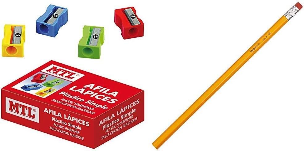 MTL 79567 - Caja afilalápices de plástico, 24 unidades: Amazon.es: Oficina y papelería