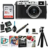 Fujifilm X100F Digital Camera with 32gb Gadget Bag (Silver)