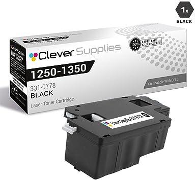 331-0778 BLACK Toner Cartridge for Dell Color Laser 1250c 1350cnw 1355cn 1355cnw