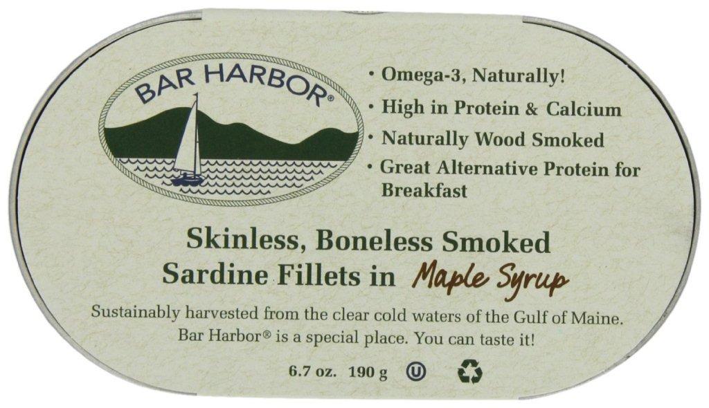 Bar Harbor Smoked Sardine Fillets, 6 7 Ounce