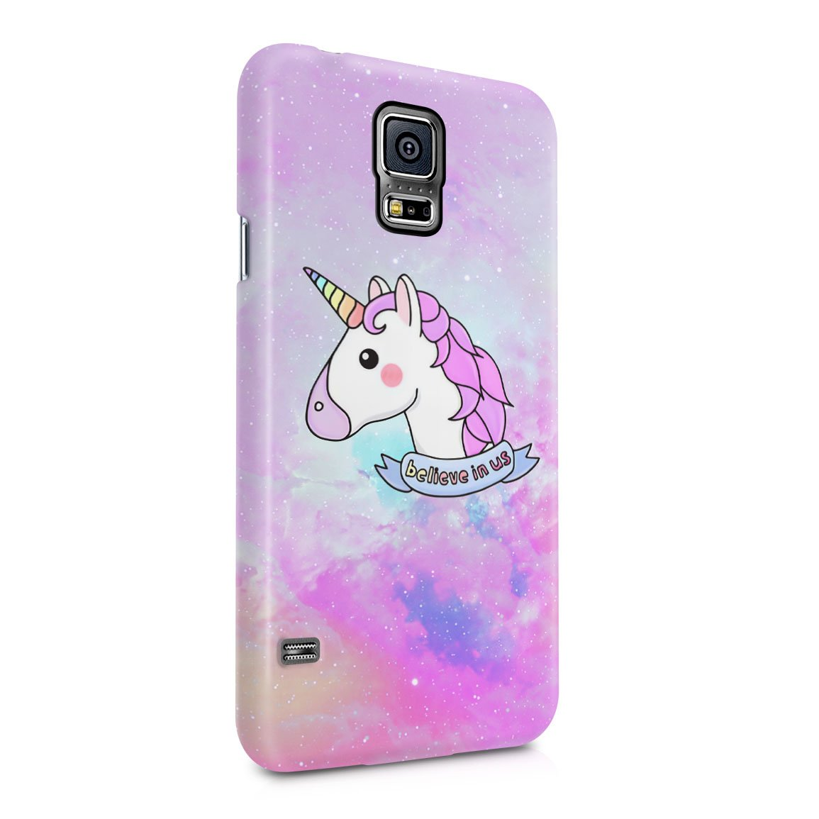 new concept 69f87 93a4d Amazon.com: Unicorn Head Believe In Us Hard Plastic Phone Case For ...
