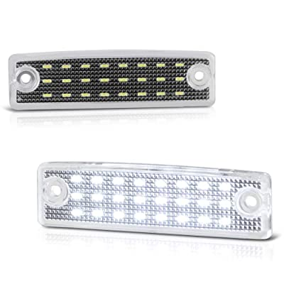 VIPMOTOZ Full LED License Plate Light Lamp Assembly Replacement For Toyota 4Runner Sequoia, 6000K Diamond White, 2-Pieces: Automotive
