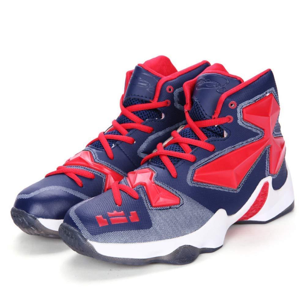 Herbst Basketball Schuhe Paar Casual Sportschuhe Student Laufschuhe Außenhandel Große Größe 45 Herrenschuhe (Farbe   DarkBlaurot, Größe   41)