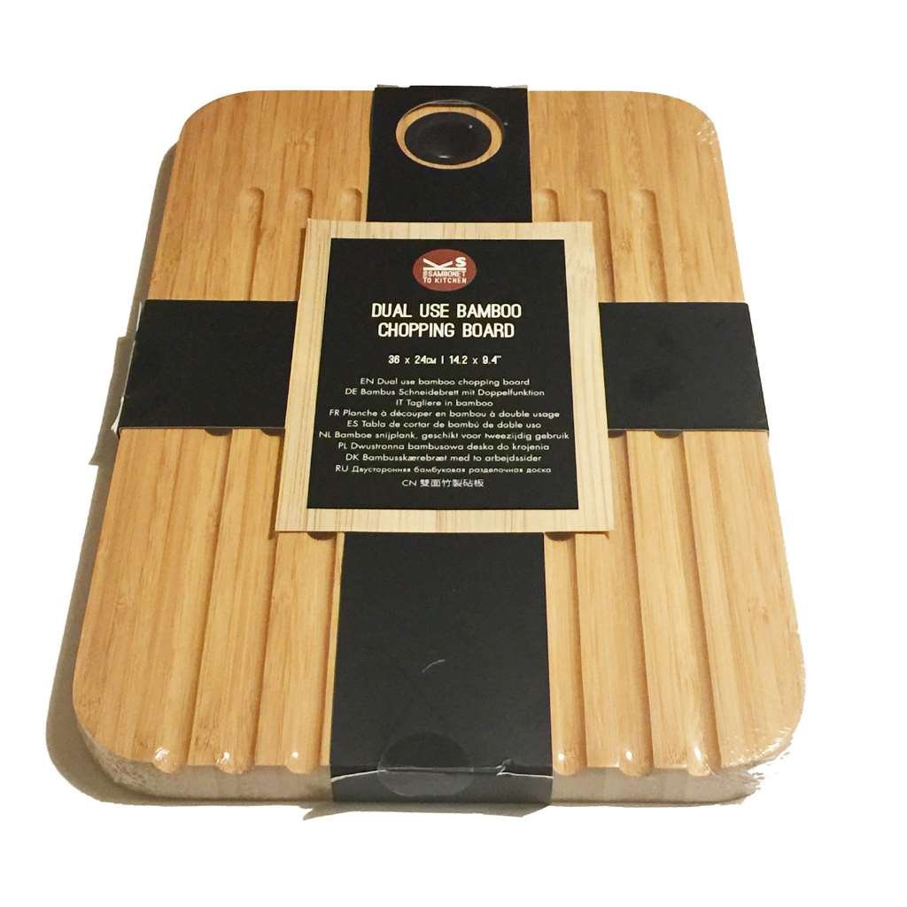 Sambonet Dual Use Bamboo Chopping Board 36cm X 24cm Amazon Co Uk