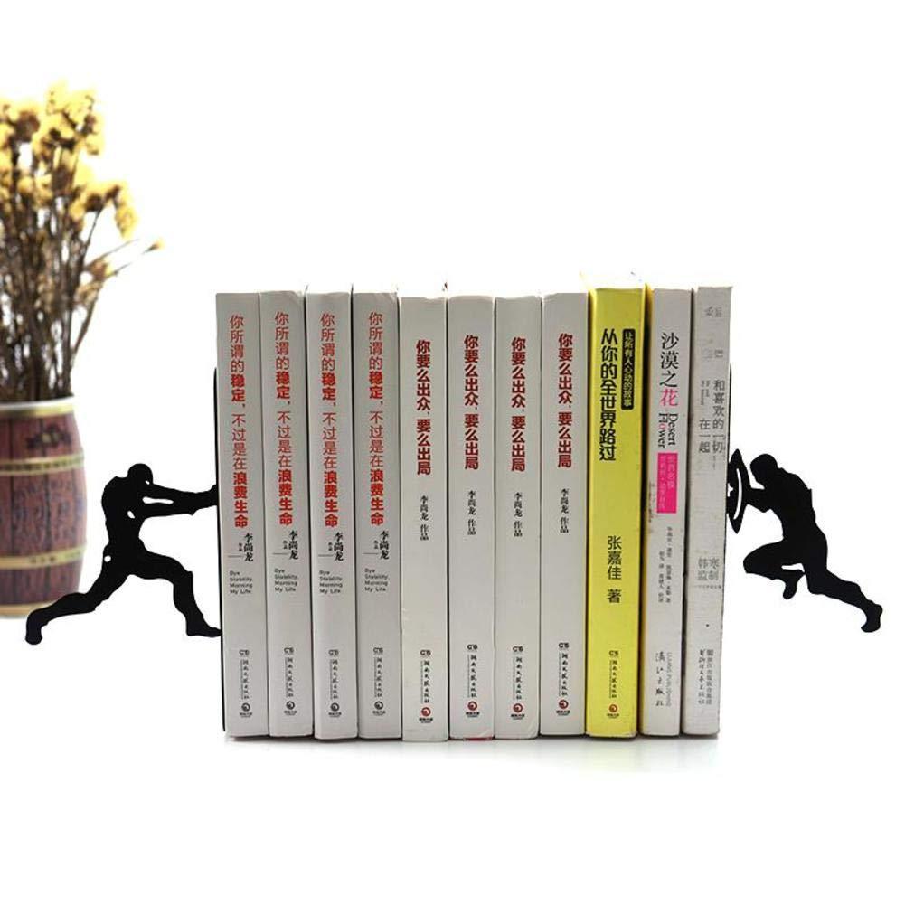 JIAOXM Creative Iron man Bookends,Storage Desktop Art decoration,Student Simple Bookend,Study Crafts Decoration-A