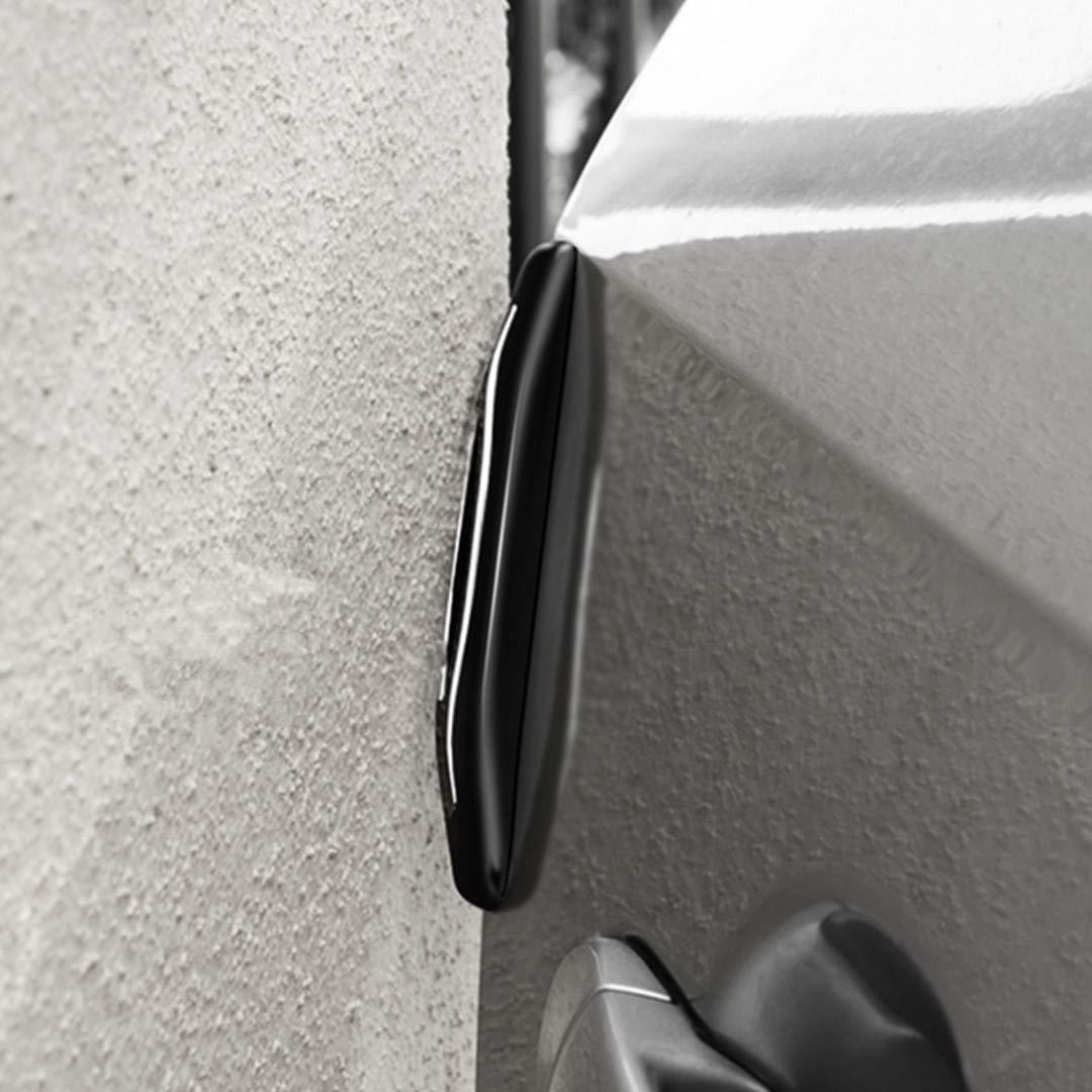 4Pcs Car Door Entry Guards Universal Fit for SUV Motors Auto Vehicle Black Car Side Door Edge Bumper Defender Strip Anti-Scratch Protectors Trim Guard Sticker