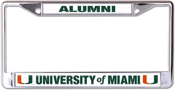 University of Miami Alumni License Plate Frame Desert Cactus