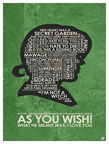 "The Princess Bride, ""AS YOU WISH"" Word Art Print Poster  by"