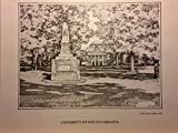 University of South Carolina - Horseshoe 8''x10'' pen and ink print